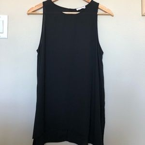 Lush Black Sleeveless Blouse Tank Like New!